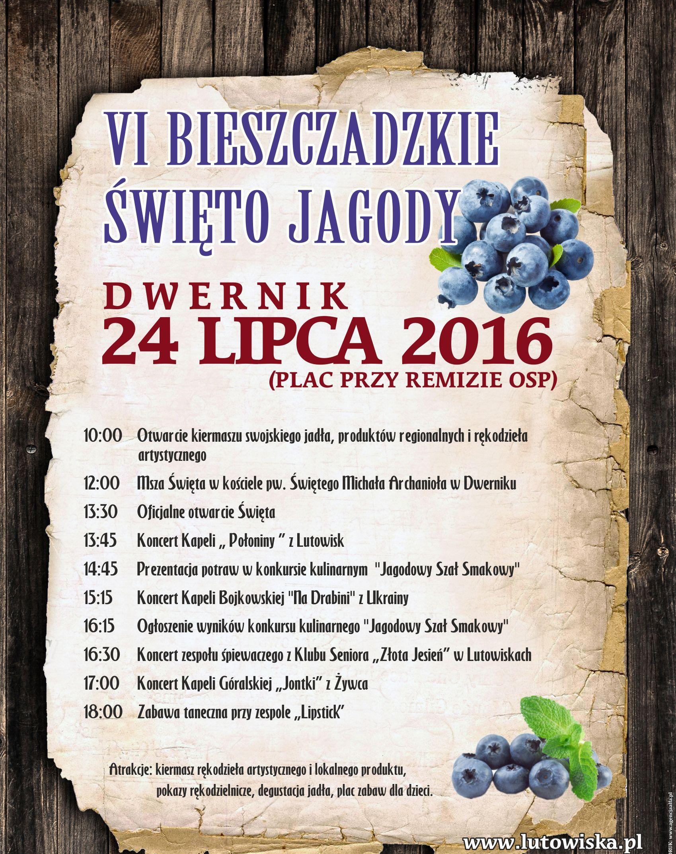 2016 Plakat Bieszczadzkie Święto Jagody (1)