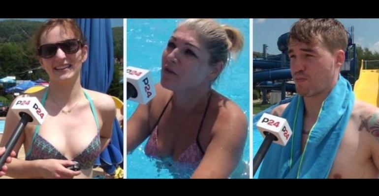BIESZCZADY: Wodne szaleństwo i dużo słońca. Turyści oblegają ustrzyckie baseny (SONDA, FILM)
