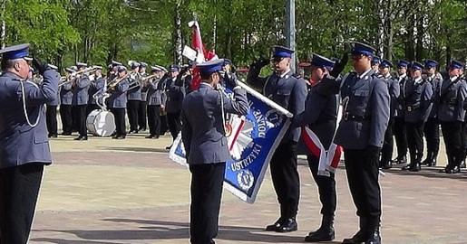 Sztandar dla ustrzyckich policjantów (FILM, ZDJĘCIA)