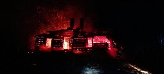 POWIAT BIESZCZADZKI: Nocny pożar drewnianego domu w Ropience