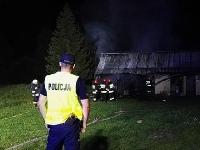 Pożar w Łodynie. Straty sięgają 50 tysięcy złotych