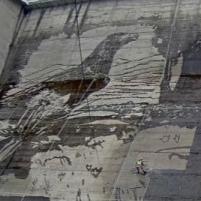 Największy na świecie eko mural w Solinie. Zobacz, jak powstaje (RELACJA LIVE)