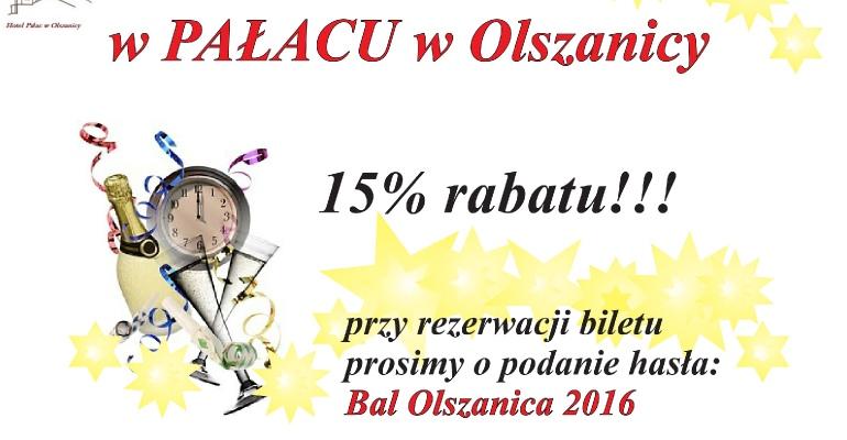 Sylwester w Pałacu w Olszanicy. Mamy dla was 15% rabatu!